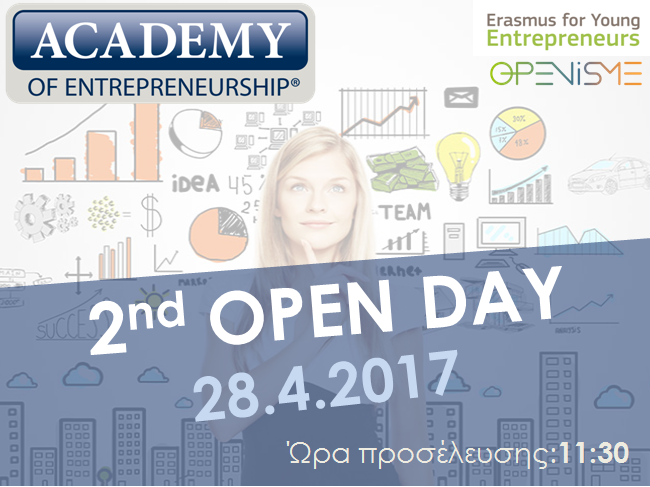 2nd Open Day - Academy of Entrepreneurship